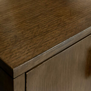 68 5 DW6 DW6 BL1 A Custom Facets 36 Low Chest Nightstand Oak 3000 custom finish match Baker Havana Modern Square Bronze Hardware Double Produce in Oak Drawers Case and Base 2 Detail