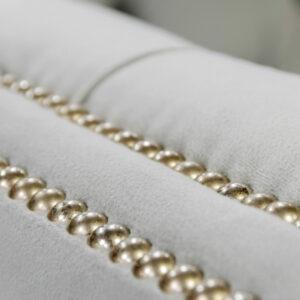 C2004 843 34 Vera Chair 240 Ivory Pearl N03 Brushed Nickel Nail Trim 4 Detail