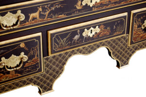 Hand Painted Highboy Detail