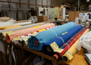 Colorful fabric rolls Craft